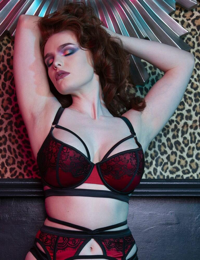 PPFB3097 Playful Promises Tasmin Bra Fuller Bust - PPFB3097 Ruby Lace
