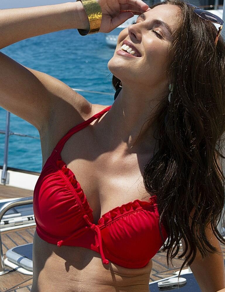15200 Pour Moi Santa Monica Padded Halterneck Bikini Top - 15200 Red