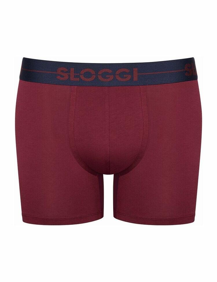 10198168 Sloggi Men Go Short 2 Pack - 10198168 Red/ Dark Combination