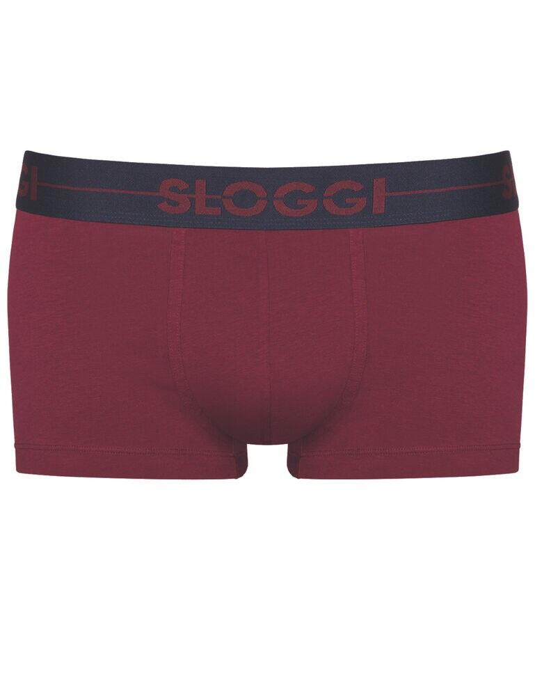 10198181 Sloggi Men Go Hipster Brief 2 Pack - 10198181 Red/ Dark Combination