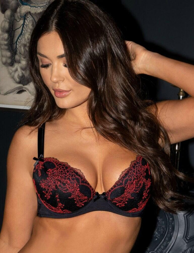 14700 Pour Moi Tattoo Underwired Lightly Padded Bra - 14700 Black/Red