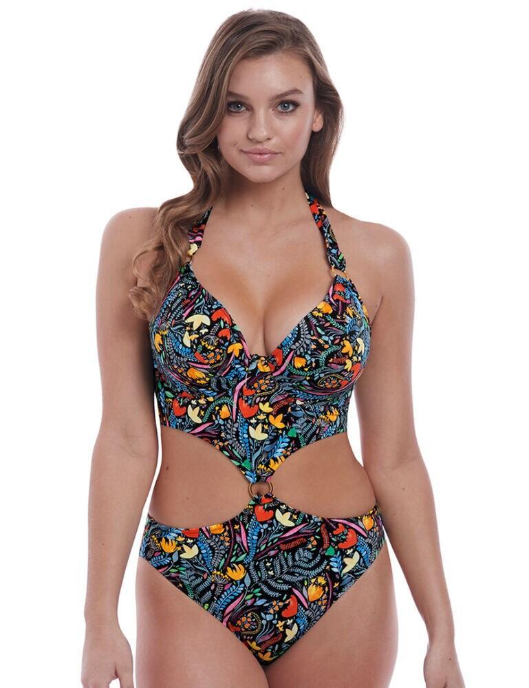 6835 Freya Modern Mystic Padded Halterneck Swimsuit - 6835 Multi