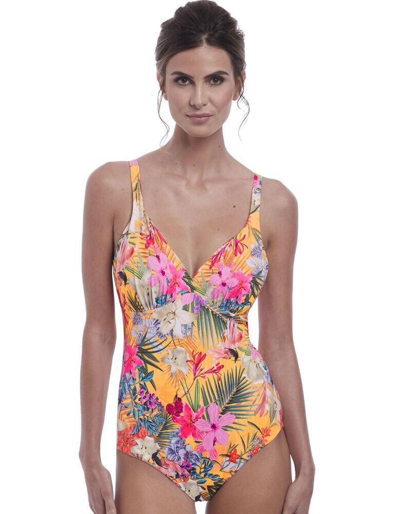 6588 Fantasie Anguilla Plunge Swimsuit - 6588 Saffron
