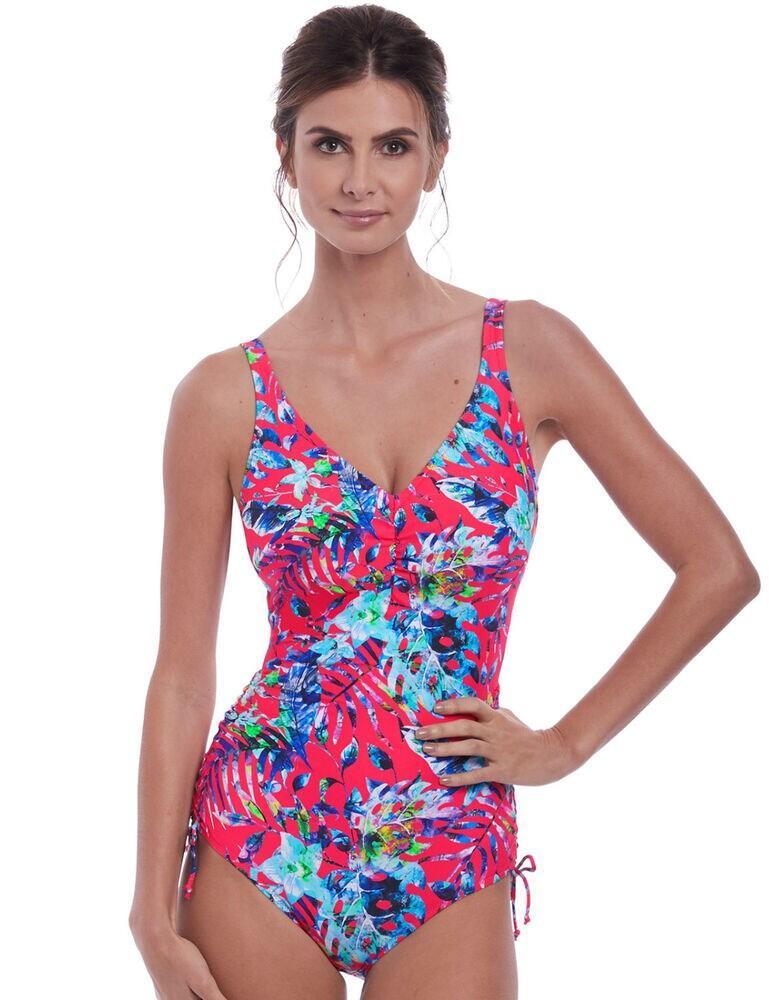 6548 Fantasie Fiji V-Neck Swimsuit - 6548 Azalea