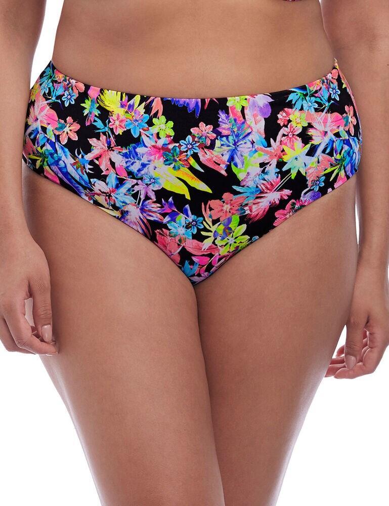 7174 Elomi Electroflower Bikini Brief - 7174 Black