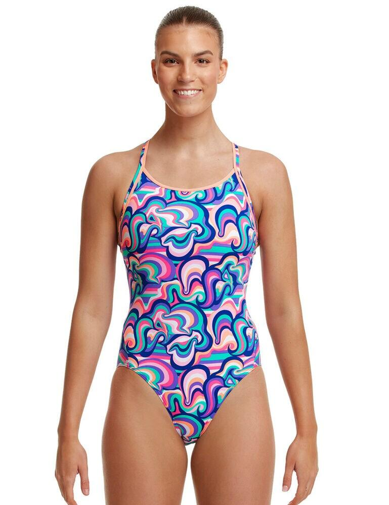 FKS033L02679 Funkita Diamond Back One Piece Swimsuit - FKS033L02679 Ice Cream Queen