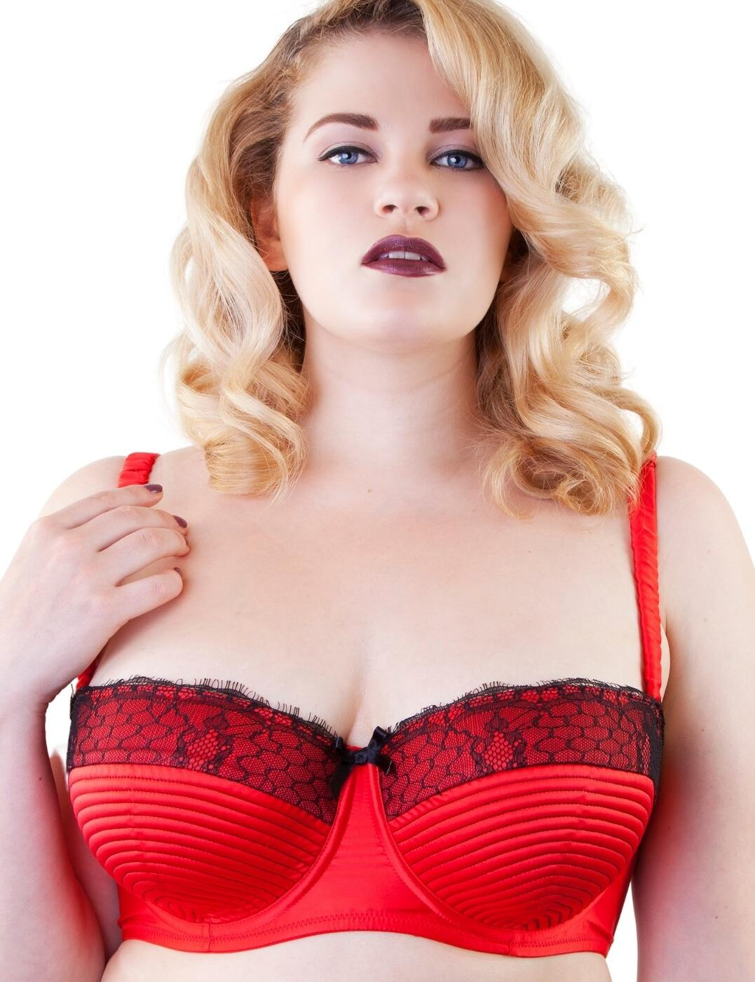 PPCC101R Playful Promises Portia Full Cup Bra - PPCC101R Flame Red