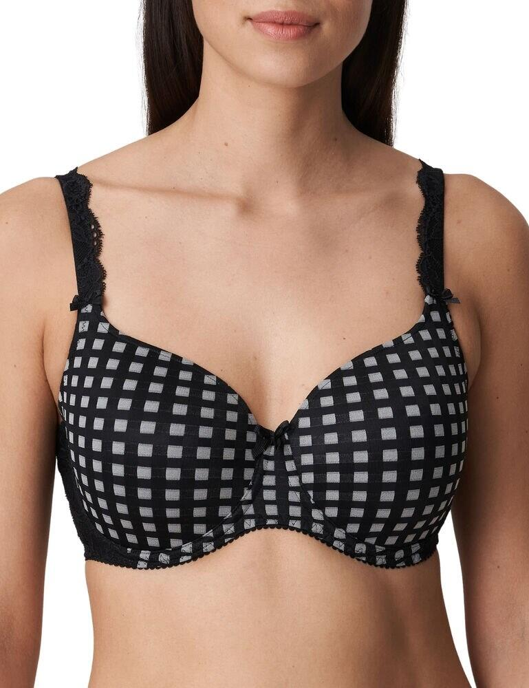 0262121 Prima Donna Madison Padded Heart Shaped Bra - 0262121 Crystal Black