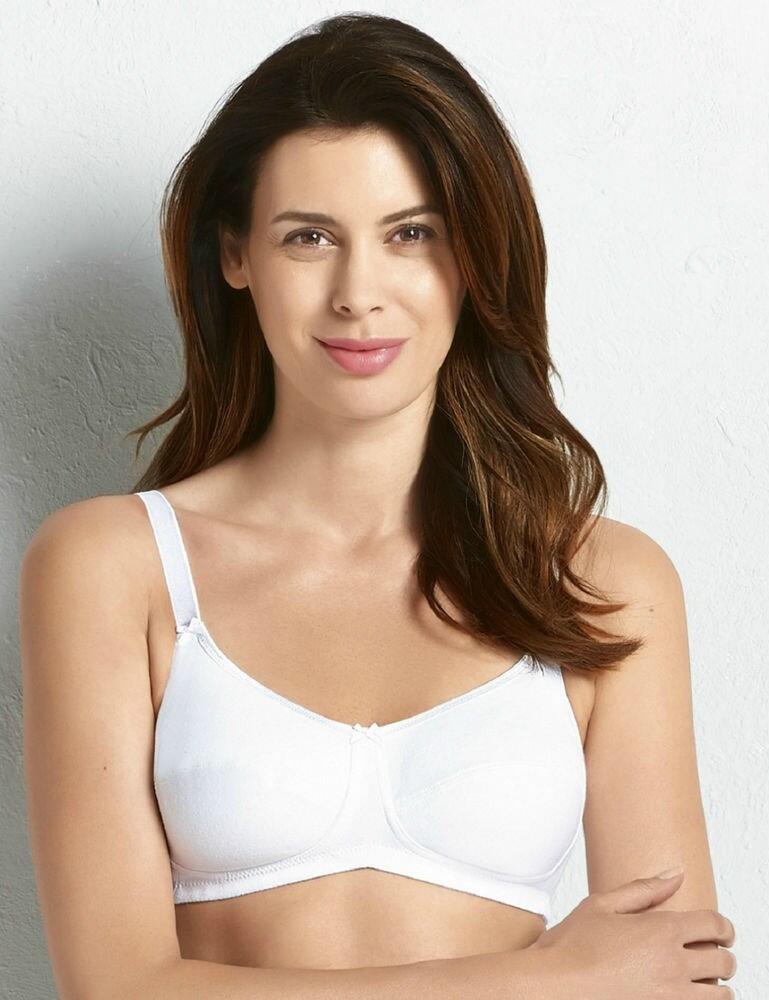 5301X Anita Care Allie Cotton Post Mastectomy Bra - 5301X White