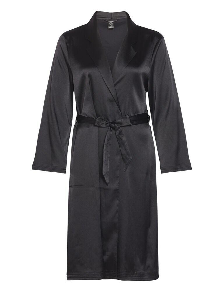 000QS6385E Calvin Klein CK Black Robe Dressing Gown - QS6385E Black