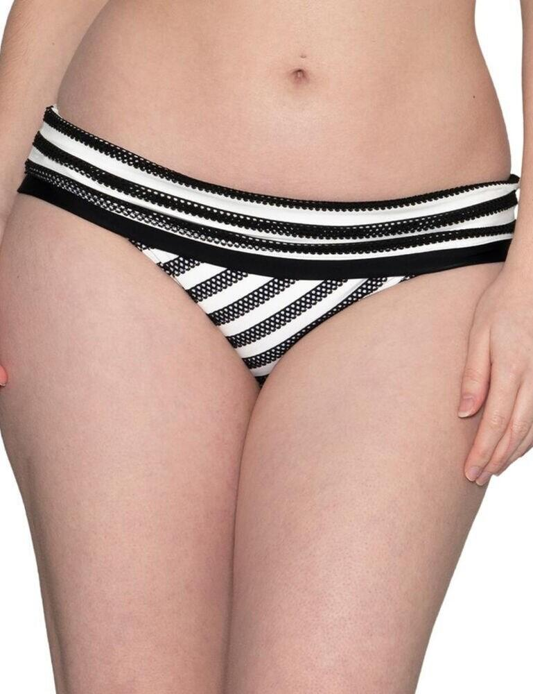 CS012503 Curvy Kate Sunseeker Foldover Bikini Brief - CS012503 Monochrome