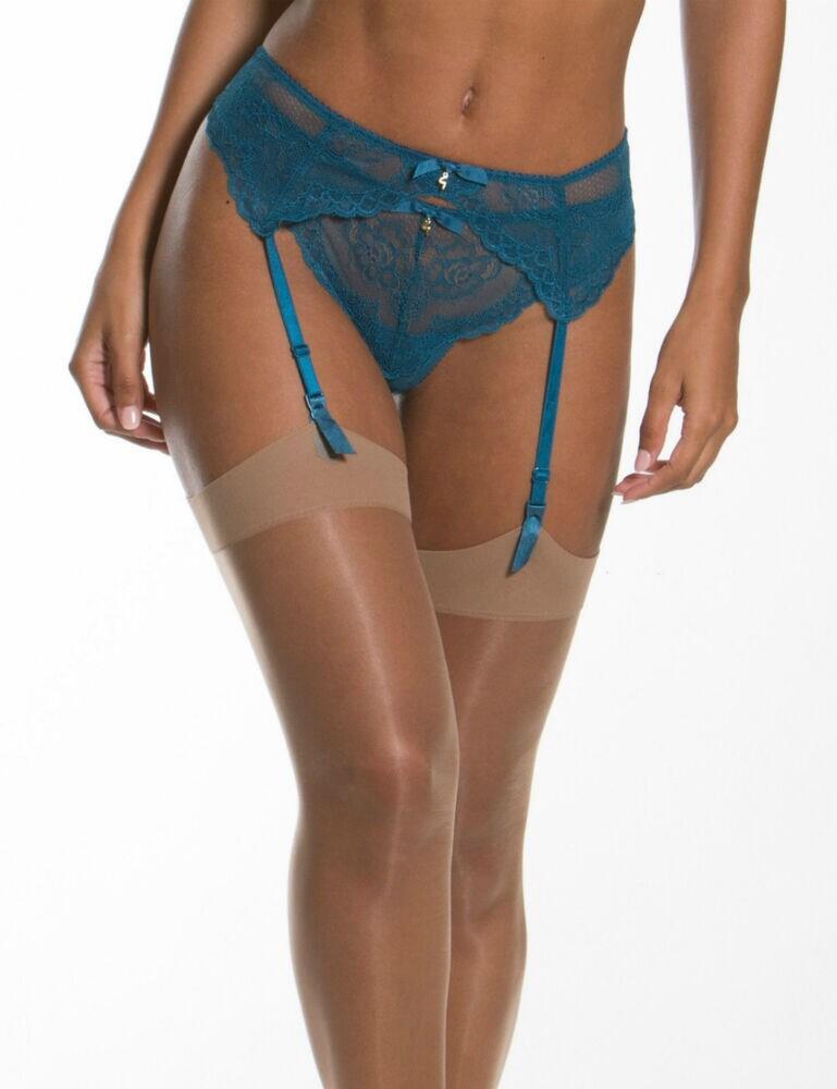 7712 Gossard Superboost Lace Suspender Belt - 7712 Ink Blue