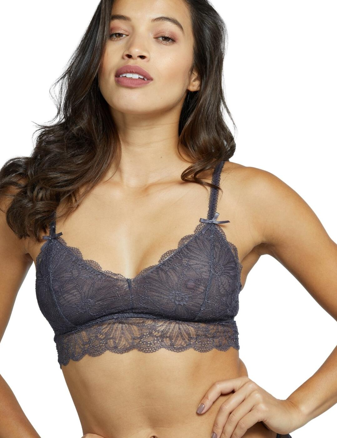 WWL631SG Playful Promises Wolf & Whistle Ariana Lace Bralette - WWL631SG Steel Grey