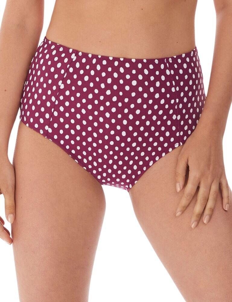 6727 Fantasie Santa Monica High Waist Bikini Brief - 6727 Garnet