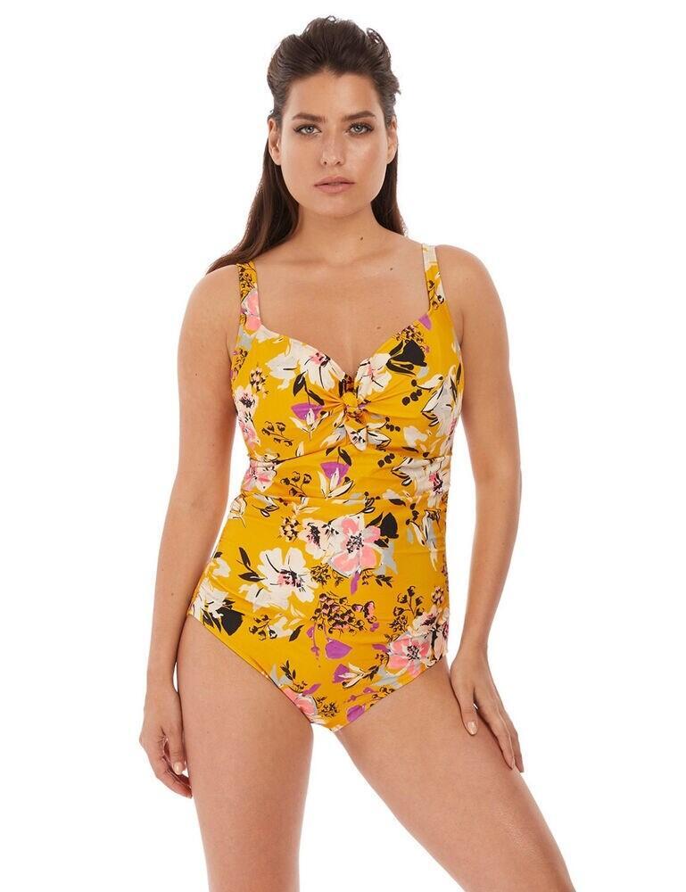 6958 Fantasie Florida Keys Gathered Plunged Swimsuit - 6958 Nectar