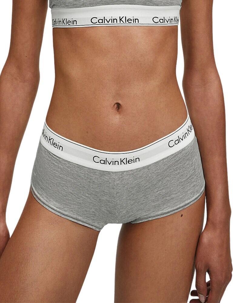 0000F3788E Calvin Klein Modern Cotton Boyshort - F3788E Grey