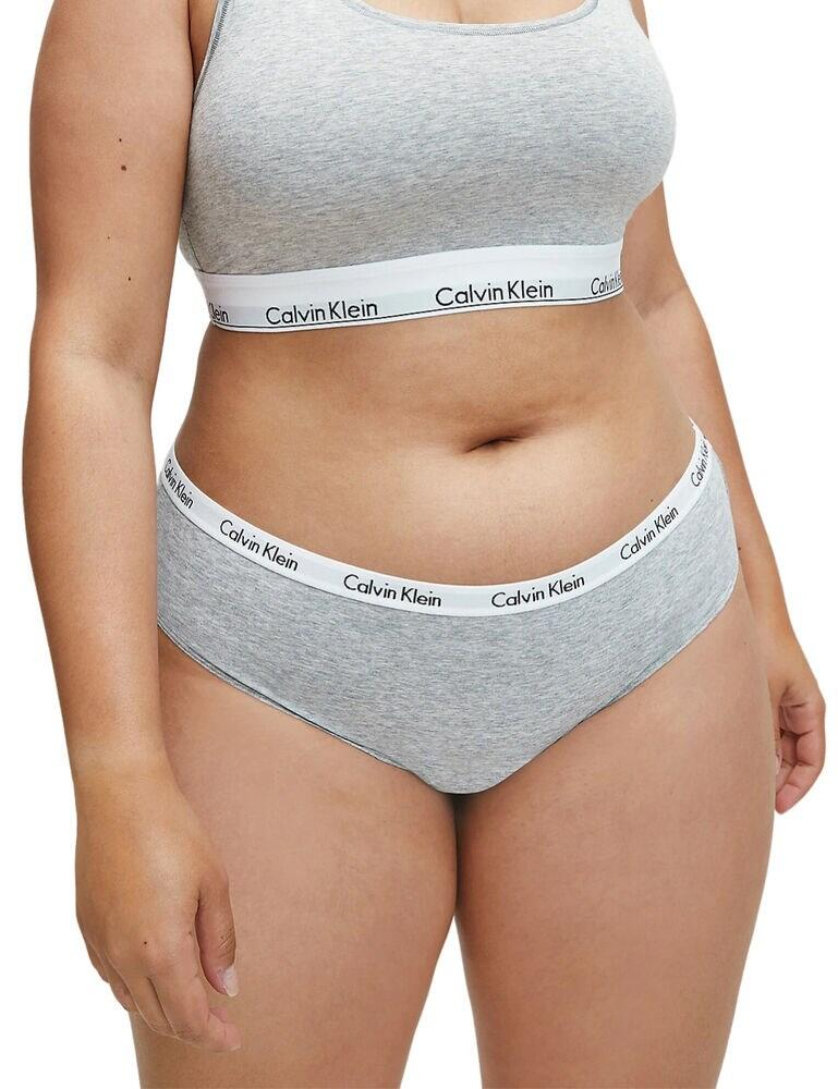 000QD3801E Calvin Klein Carousel Plus Size Bikini Brief 3 Pack - QD3801E Black/White/Grey Heather