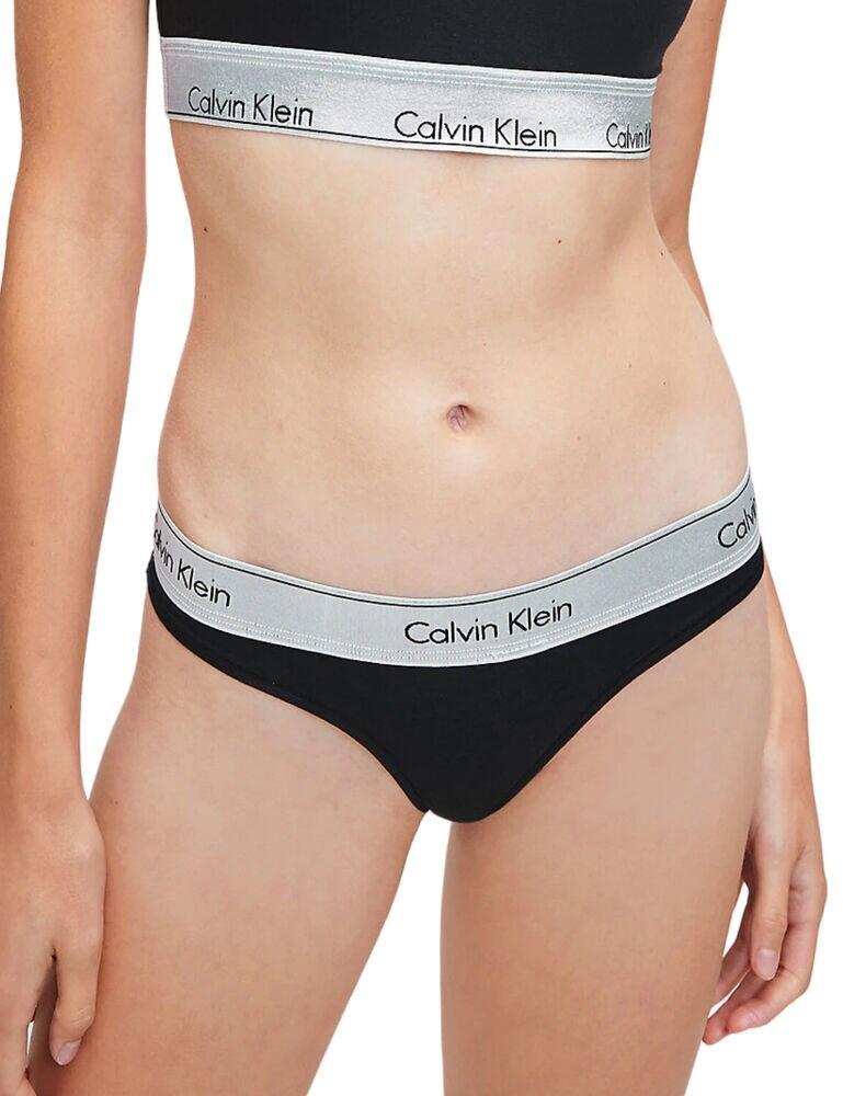000QF6233E Calvin Klein CK One Bralette & Thong Set - QF6233E Black/Silver