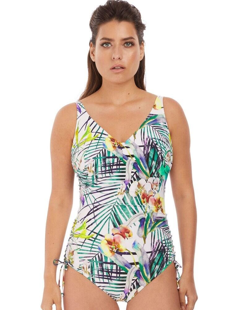 6929 Fantasie Playa Blanca V-Neck Swimsuit - 6929 Multi