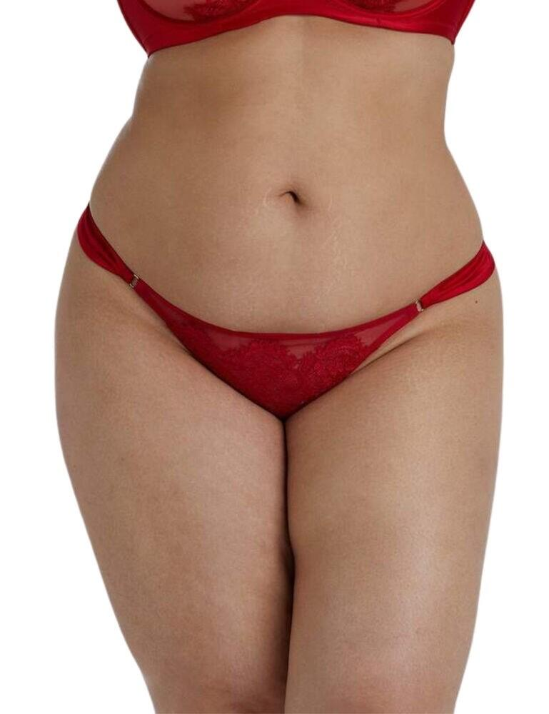 PPCCT3180 Playful Promises Anneliese Satin Thong Curve - PPCCT3180 Red