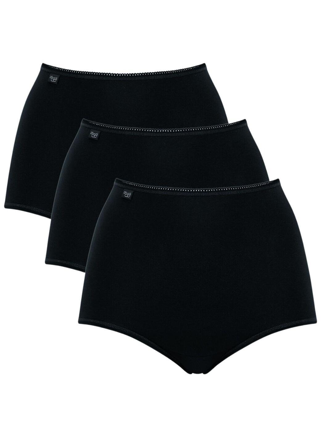 10167190 Sloggi 24/7 Cotton Maxi Brief 3 Pack - 10167190 Black