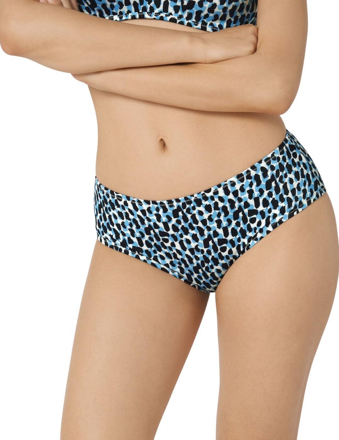 Sloggi Women Shore Koh Tachai Mid Waist Bikini Brief in Blue/Dark Combination