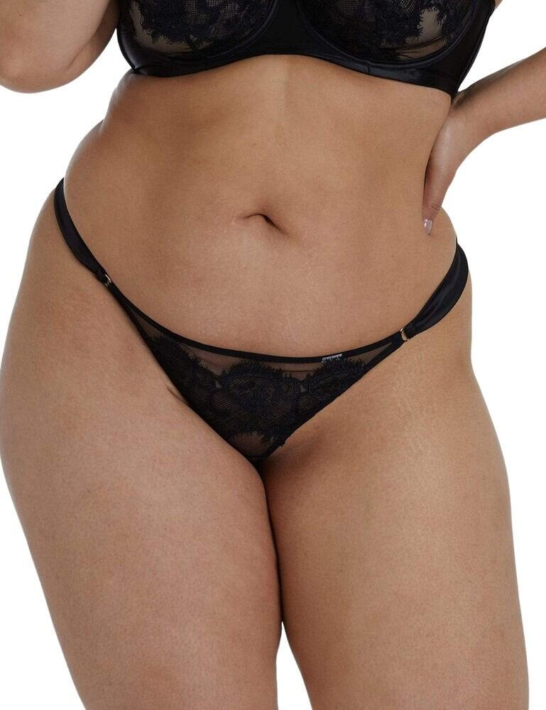 Playful Promises Anneliese Curve Brazilian Thong in Black