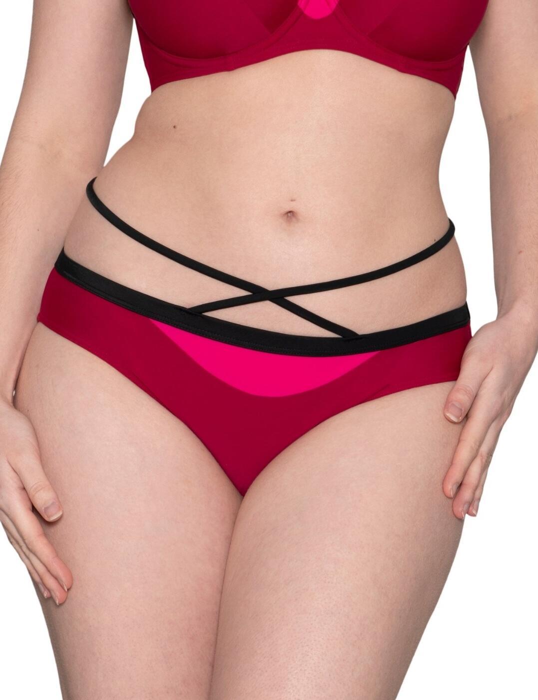 Curvy Kate Subtropic Mini Bikini Brief in Cherry Red/Pink