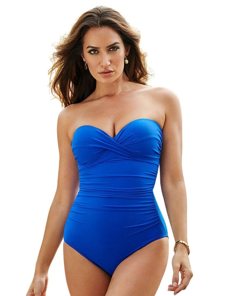 Figleaves Miraclesuit Rock Solid Madrid Bandeau Swimsuit Delphine