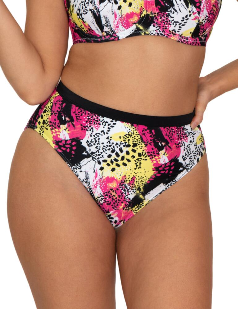 Curvy Kate Sea Leopard High Waist Bikini Brief in Print Mix
