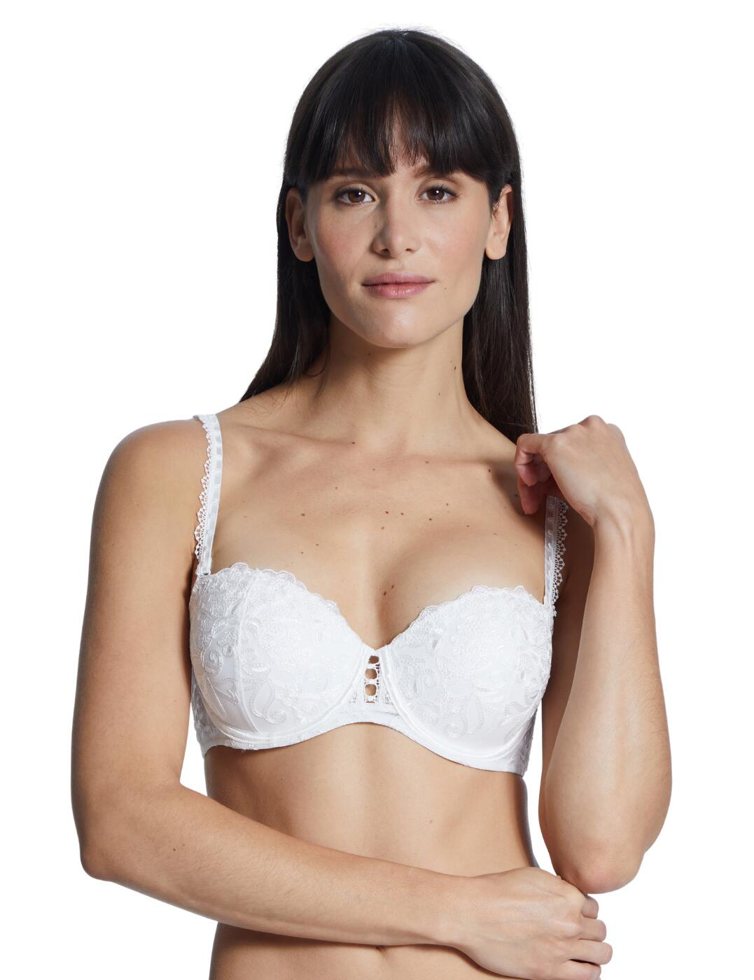 Aubade Pour Toujours Comfort Moulded Bandeau Bra in Opale