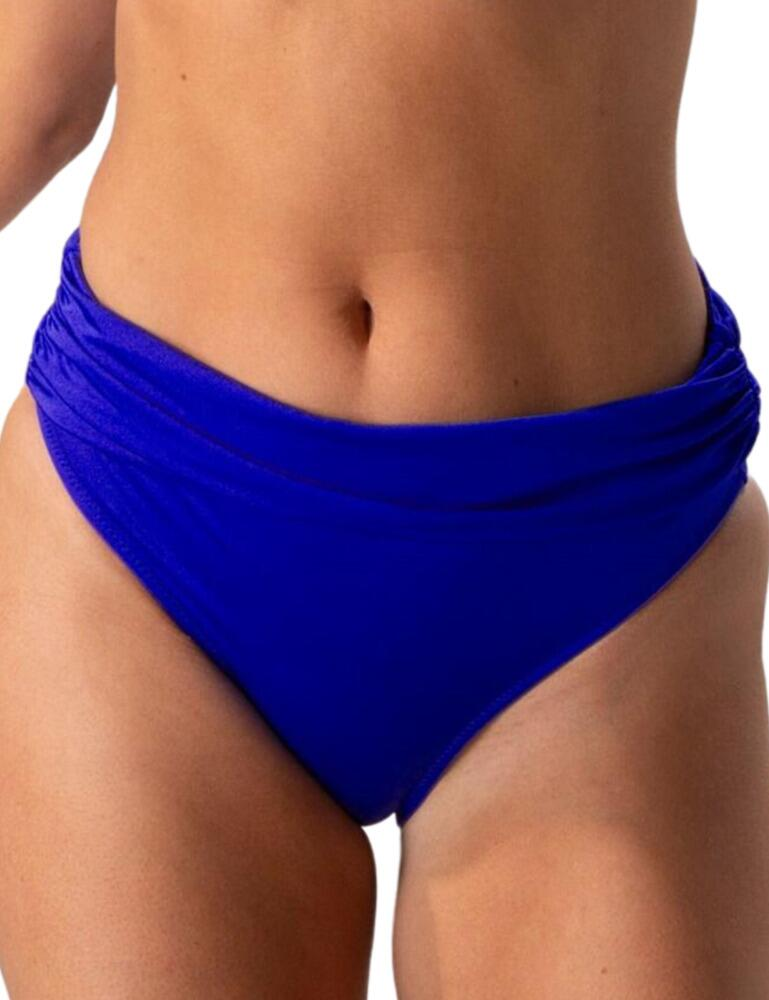 Pour Moi Azure Fold Over Bikini Brief in Deep Blue