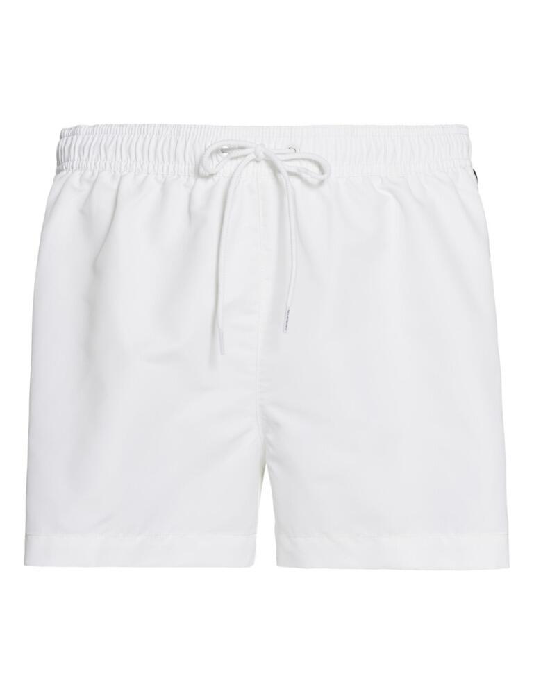 Calvin Klein Core Logo Tape Mens Drawstring Trunks PVH Classic White