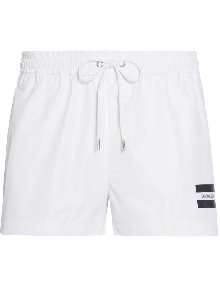 Calvin Klein Swimwear Mens Drawstring Trunks PVH Classic White