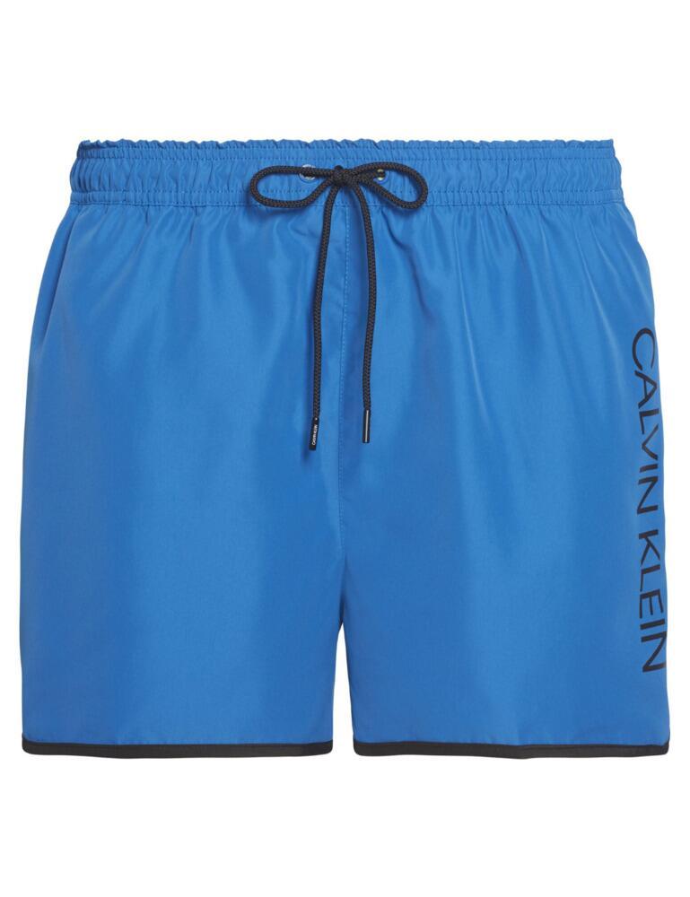Calvin Klein Core Solids Mens Runner Trunks Snorkel Blue