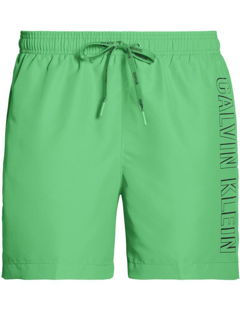 Calvin Klein Mens Drawstring Trunks Bright Green