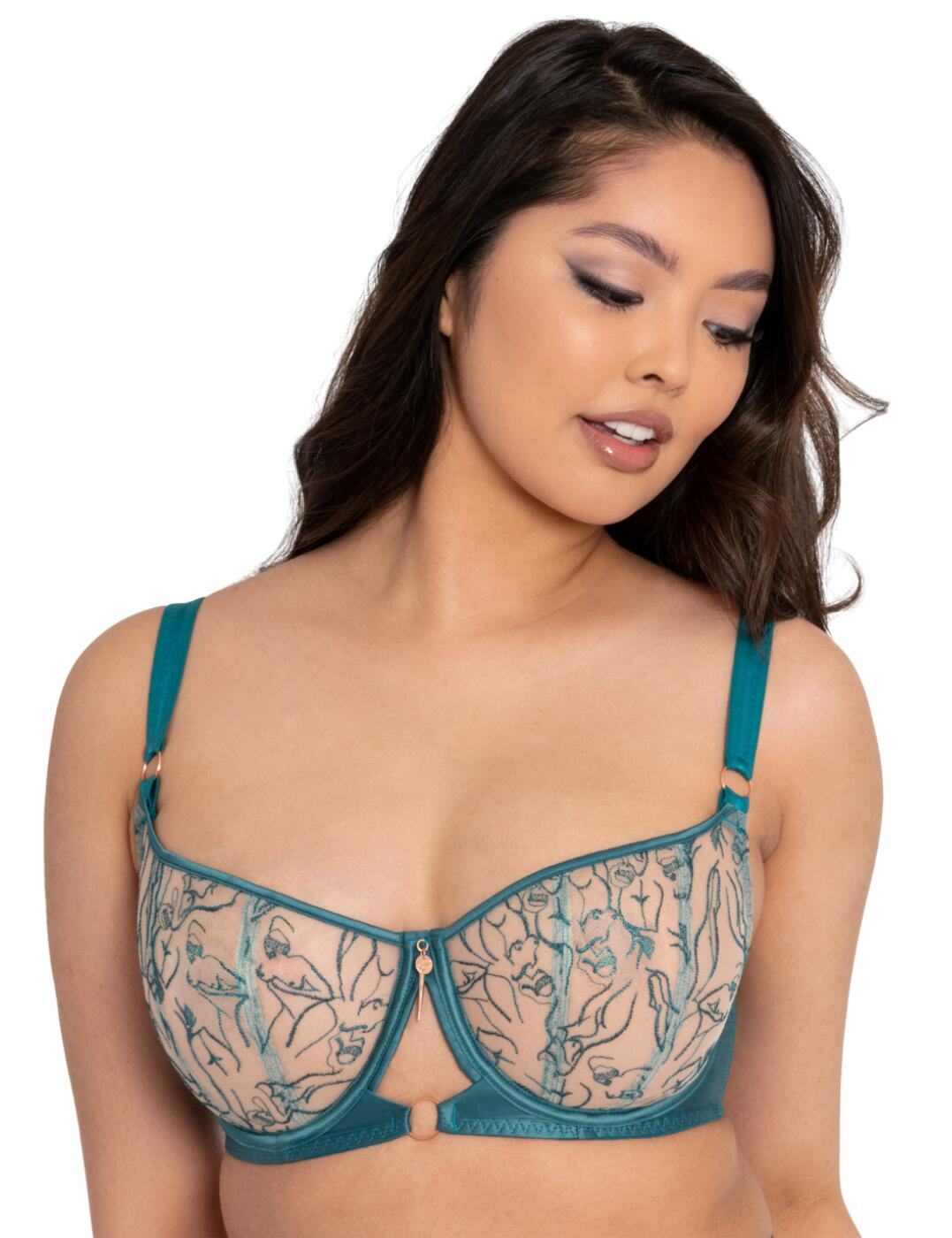 ST014105 Scantilly by Curvy Kate Education Balcony Bra  - ST014105 Teal