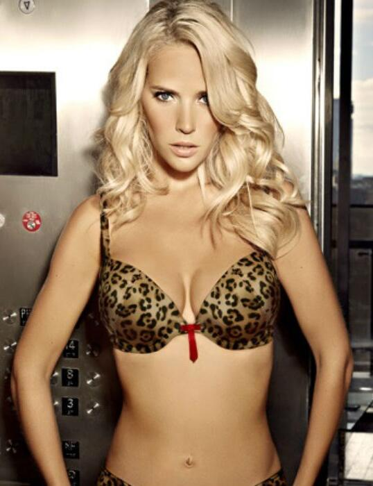 e1d8f5918a 0328 Ultimo The One Cleo Plunge Bra Animal Print