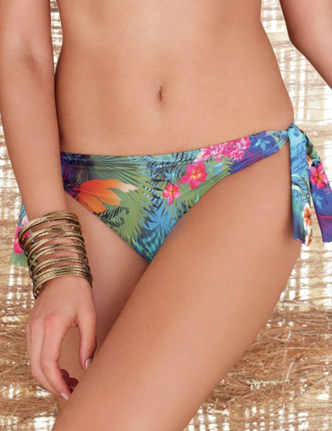 5963 Fantasie Dominica Scarf Tie Bikini Brief - 5963 Tropical Print