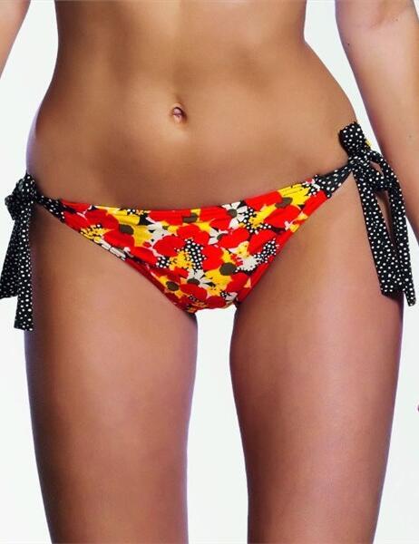 3152 Freya Flamingo Tie Bikini Brief - 3152 Lipstick