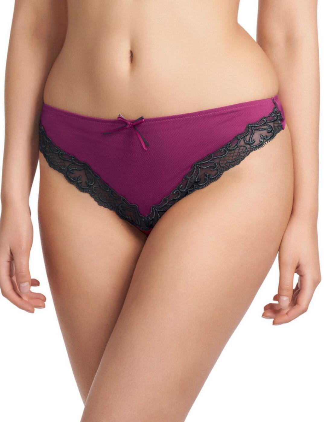 0247 Fauve Veronique Thong Azalea Purple - 0247 Thong
