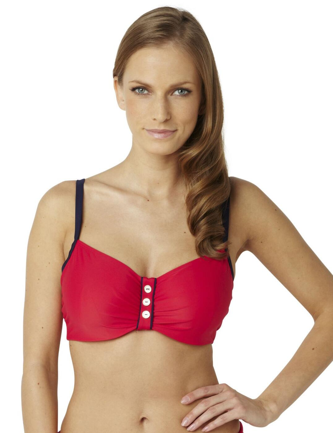 SW0642 Panache Veronica Balcony Bikini Top - SW0642 Red/Navy