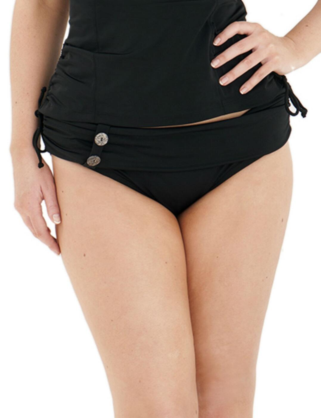 CS1925 Curvy Kate Luau Love Fold Mini Bikini Brief - CS1925 Black
