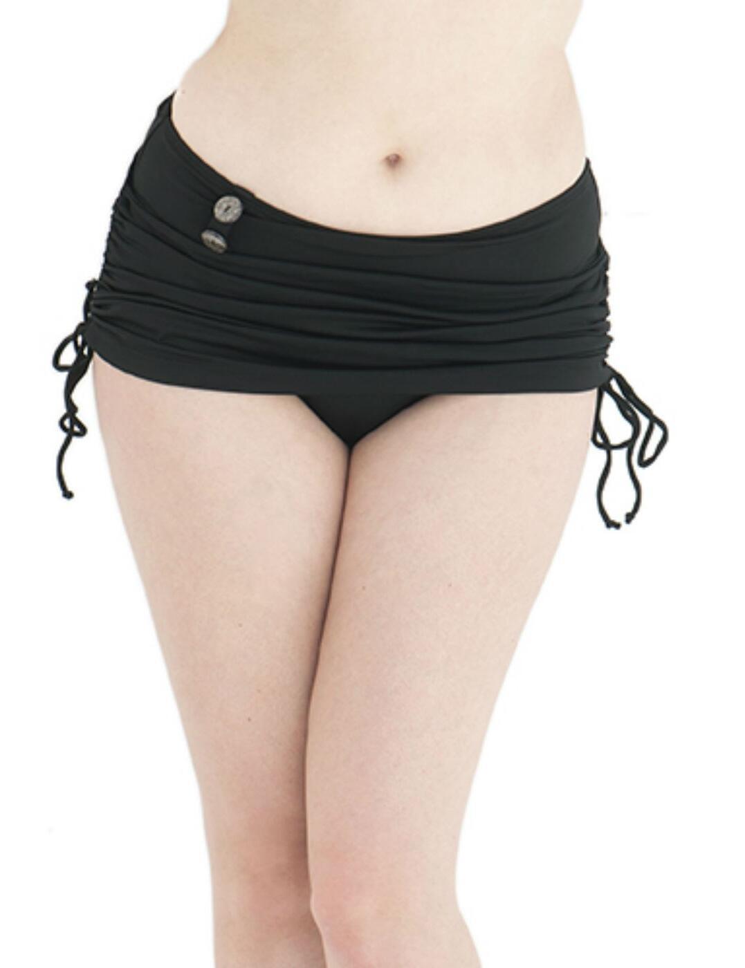 CS1955 Curvy Kate Luau Love Swim Skirt - CS1955 Black