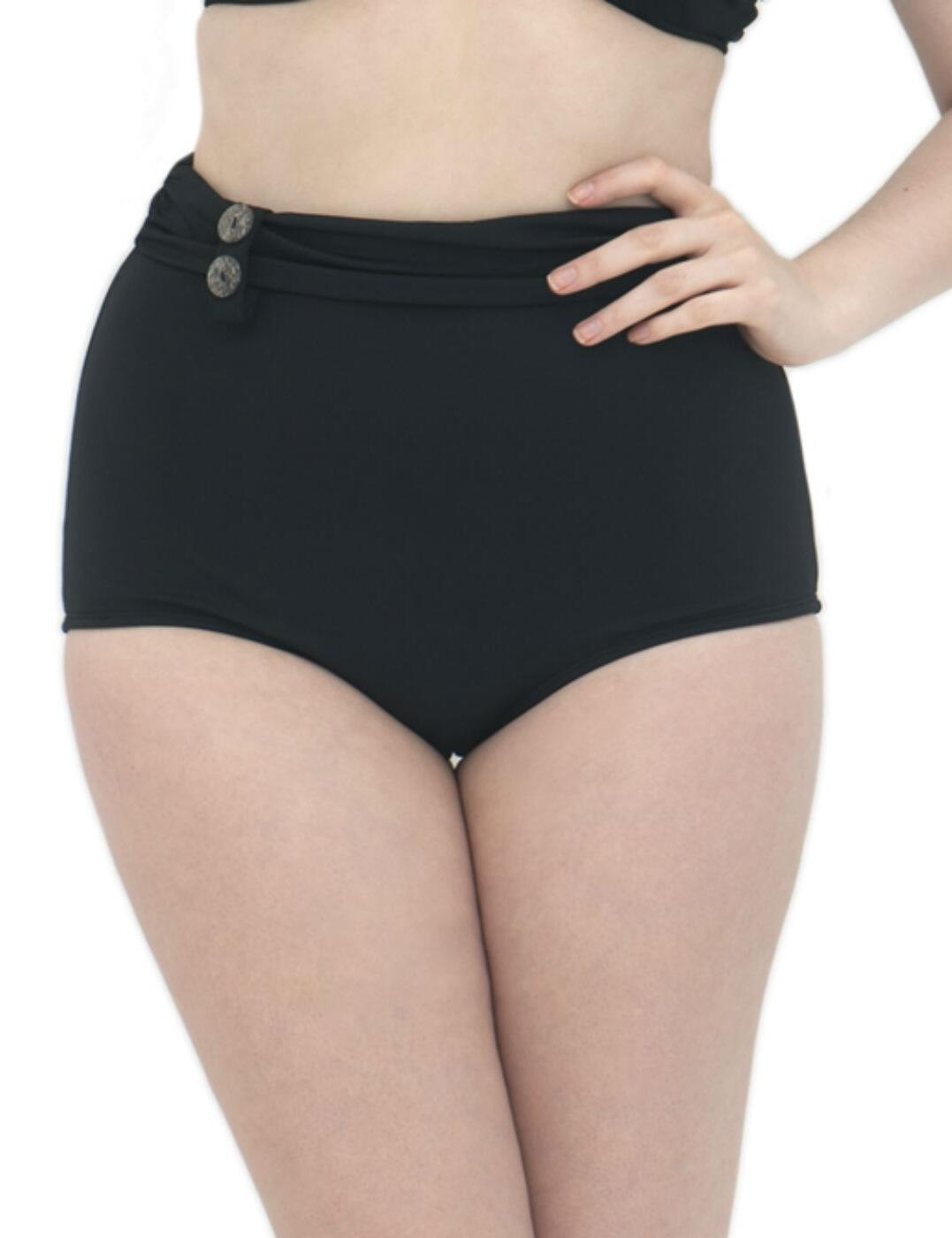 CS1965 Curvy Kate Luau Love High Waist Brief - CS1965 Black
