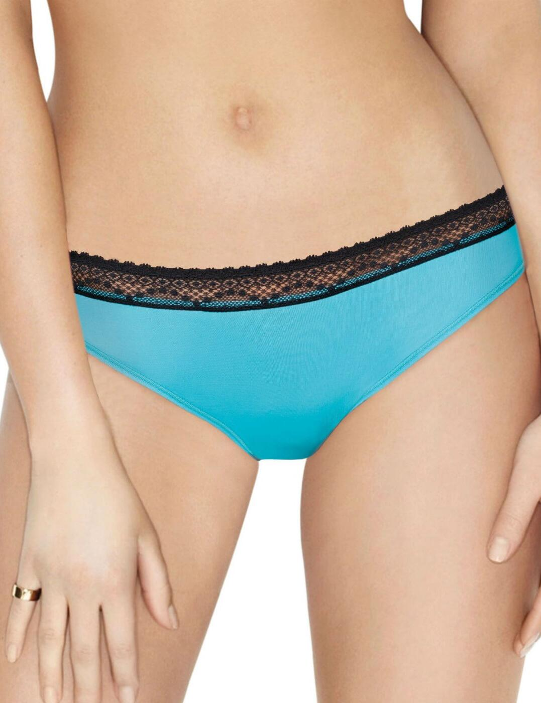 W01PE Wonderbra 'Crazy Dressing Room' Lace Brief  - W01PE Turquoise