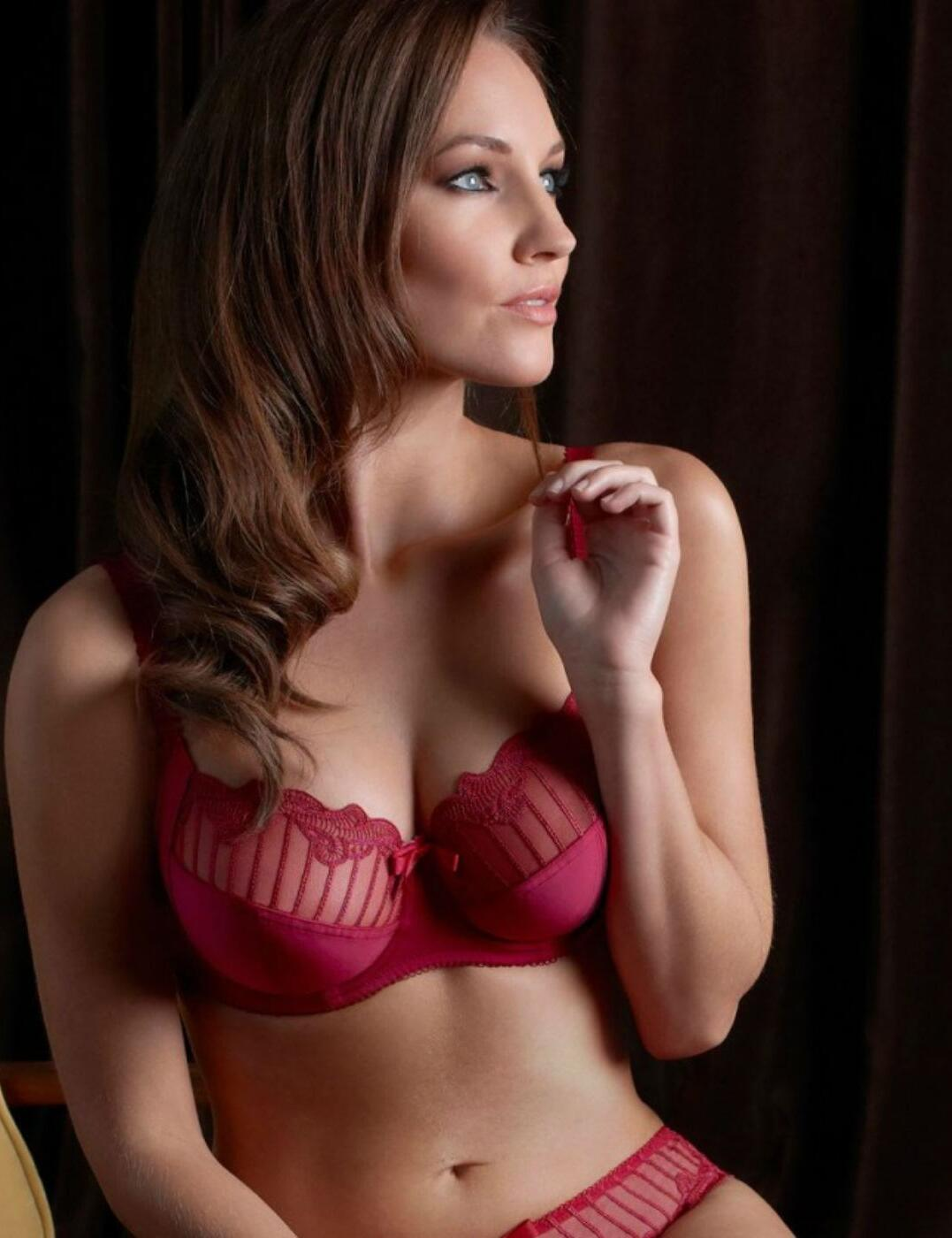 1295010 Charnos Sienna Full Cup Side Support Bra - 1295010 Red Bra