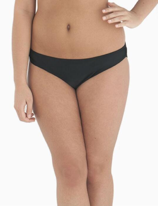 CS2505 Curvy Kate Moonflower Ruched Back Brief Black - CS2505 Ruched Brief