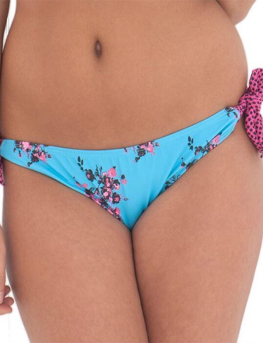 CS2115 Curvy Kate Beach Bloom Ruffle Tie Side Brief Topaz/Floral - CS2115 Tie Side Brief