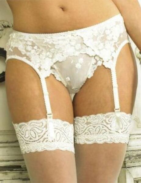92f918fe540 Panache Venus Suspender Belt 3413 Ivory or Black - Ivory Suspender